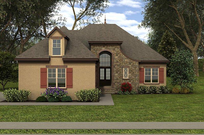 Dream House Plan - European Exterior - Front Elevation Plan #413-874