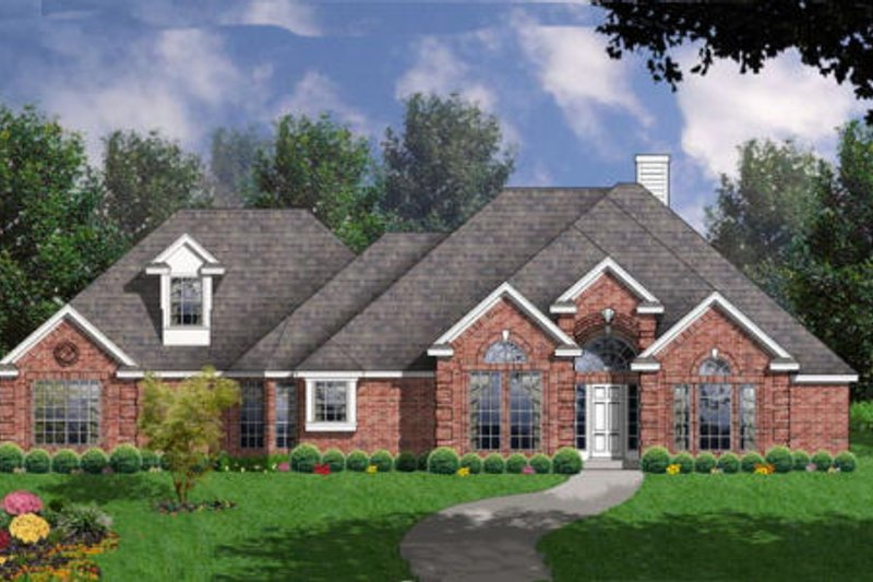 Traditional Style House Plan - 4 Beds 2.5 Baths 2316 Sq/Ft Plan #40-324