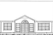 Home Plan - Traditional Exterior - Rear Elevation Plan #20-347