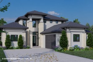 House Blueprint - Contemporary Exterior - Front Elevation Plan #930-515