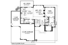 European Floor Plan - Main Floor Plan Plan #70-881