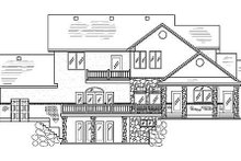 Traditional Exterior - Rear Elevation Plan #5-210