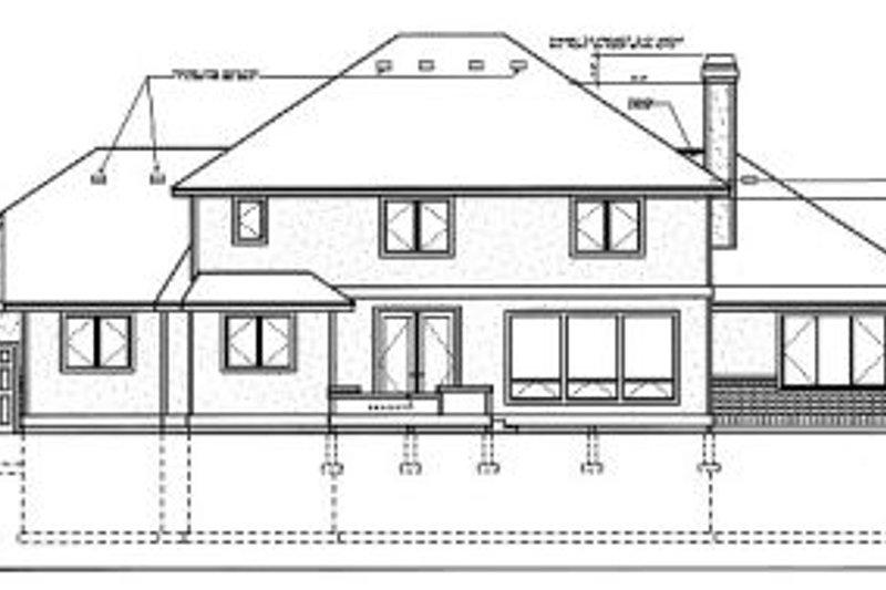 European Exterior - Rear Elevation Plan #87-206 - Houseplans.com
