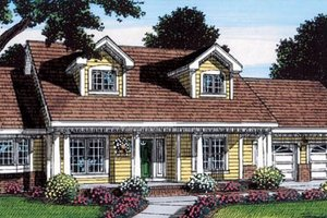 Country Exterior - Front Elevation Plan #312-160