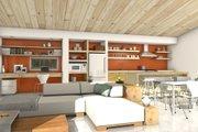 Modern Style House Plan - 3 Beds 2 Baths 1356 Sq/Ft Plan #497-57