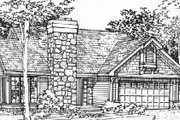 Ranch Style House Plan - 2 Beds 2 Baths 1231 Sq/Ft Plan #320-352