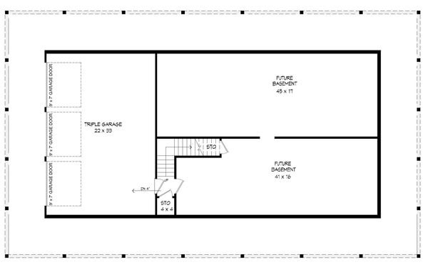 Country Floor Plan - Lower Floor Plan #932-175