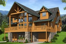 House Plan Design - Craftsman Exterior - Rear Elevation Plan #117-886