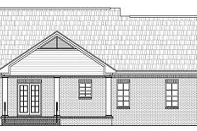 Southern Exterior - Rear Elevation Plan #21-209 - Houseplans.com