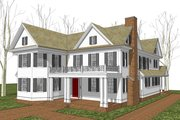 Country Style House Plan - 4 Beds 3.5 Baths 3800 Sq/Ft Plan #481-8 Exterior - Other Elevation