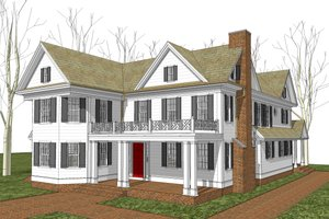 Traditional stye country design house elevation by Harold Forrest Dietrich Architects LLC