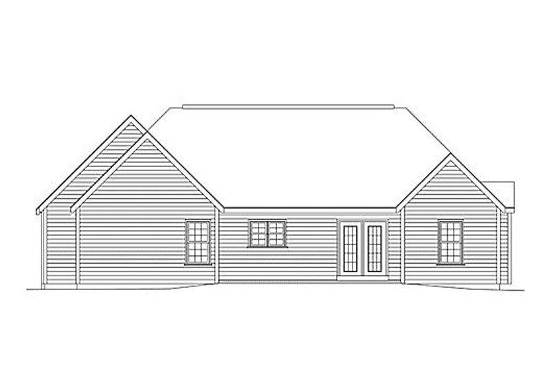 Traditional Exterior - Rear Elevation Plan #57-515 - Houseplans.com