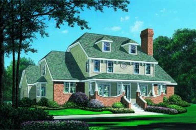 Southern Exterior - Front Elevation Plan #20-1007 - Houseplans.com