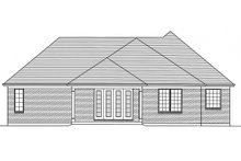 European Exterior - Rear Elevation Plan #46-833