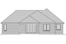 Architectural House Design - European Exterior - Rear Elevation Plan #46-833