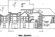 European Style House Plan - 3 Beds 2.5 Baths 2402 Sq/Ft Plan #51-111 Exterior - Rear Elevation
