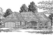 Traditional Style House Plan - 3 Beds 2 Baths 1657 Sq/Ft Plan #70-165 Exterior - Front Elevation