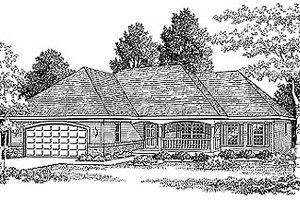 Traditional Exterior - Front Elevation Plan #70-165