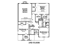 Traditional Floor Plan - Upper Floor Plan Plan #419-247