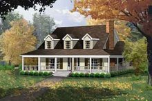 House Plan Design - Farmhouse Exterior - Other Elevation Plan #40-328