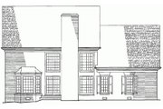 Colonial Style House Plan - 3 Beds 3 Baths 2784 Sq/Ft Plan #137-135 Exterior - Rear Elevation