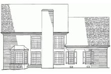 Dream House Plan - Rear view - 2800 square foot Colonial home