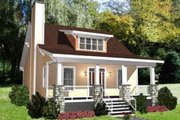Bungalow Style House Plan - 3 Beds 2 Baths 1460 Sq/Ft Plan #79-206 Exterior - Front Elevation