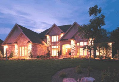 European Style House Plan - 4 Beds 3.5 Baths 3904 Sq/Ft Plan #20-209 Exterior - Front Elevation
