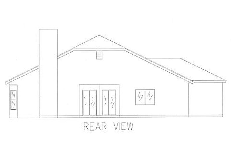 Traditional Exterior - Rear Elevation Plan #437-8 - Houseplans.com