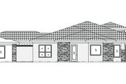 Mediterranean Style House Plan - 4 Beds 3.5 Baths 3443 Sq/Ft Plan #24-249 Exterior - Rear Elevation