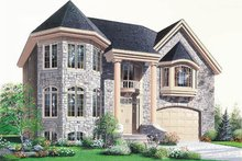 European Exterior - Front Elevation Plan #23-2137