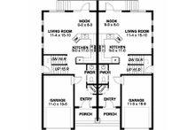 Craftsman Floor Plan - Main Floor Plan Plan #126-203