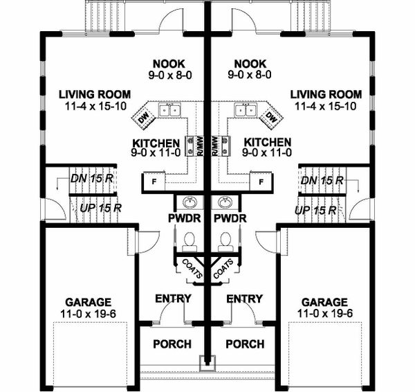 Craftsman Floor Plan - Main Floor Plan Plan #126-203