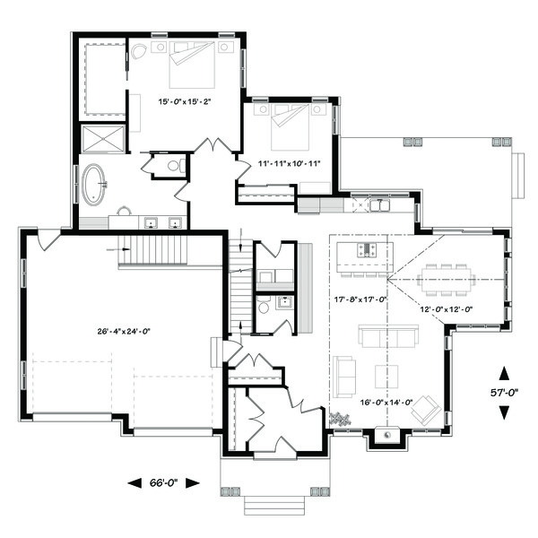 Traditional Floor Plan - Main Floor Plan Plan #23-2303