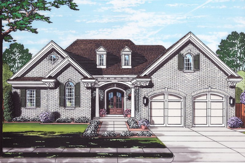 Ranch Exterior - Front Elevation Plan #46-881