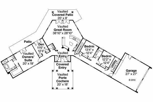 Dream House Plan - Prairie Floor Plan - Main Floor Plan #124-904