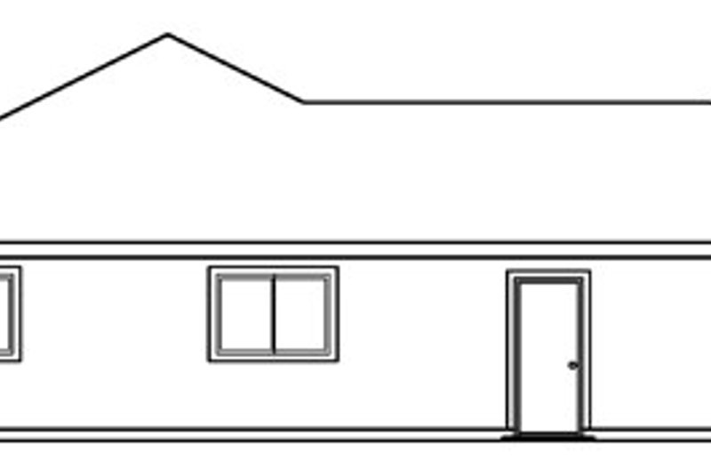 Ranch Exterior - Other Elevation Plan #124-373 - Houseplans.com