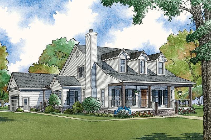 Farmhouse Exterior - Front Elevation Plan #923-100