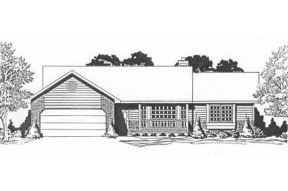 Ranch Exterior - Front Elevation Plan #58-123