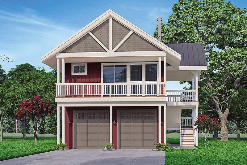 House Plan Design - Craftsman Exterior - Front Elevation Plan #124-1247