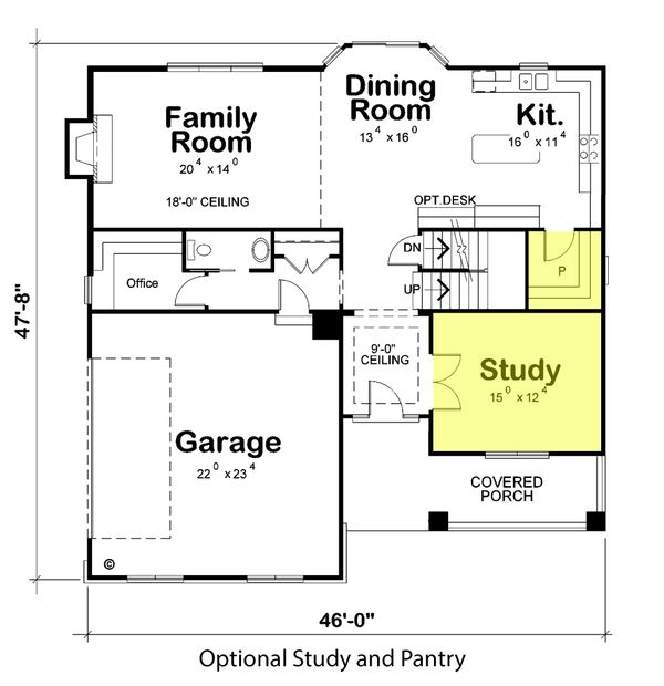 Traditional Floor Plan - Main Floor Plan Plan #20-2180