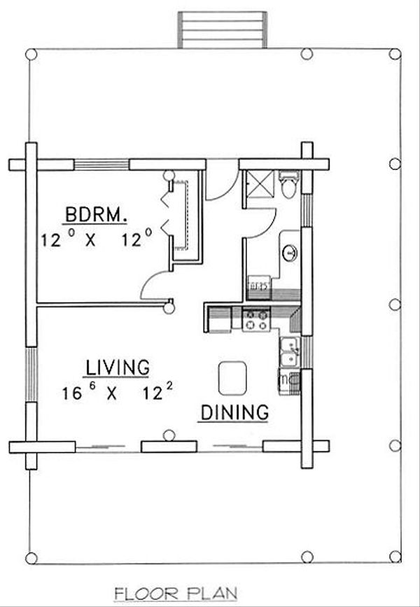 Log Floor Plan - Main Floor Plan Plan #117-505