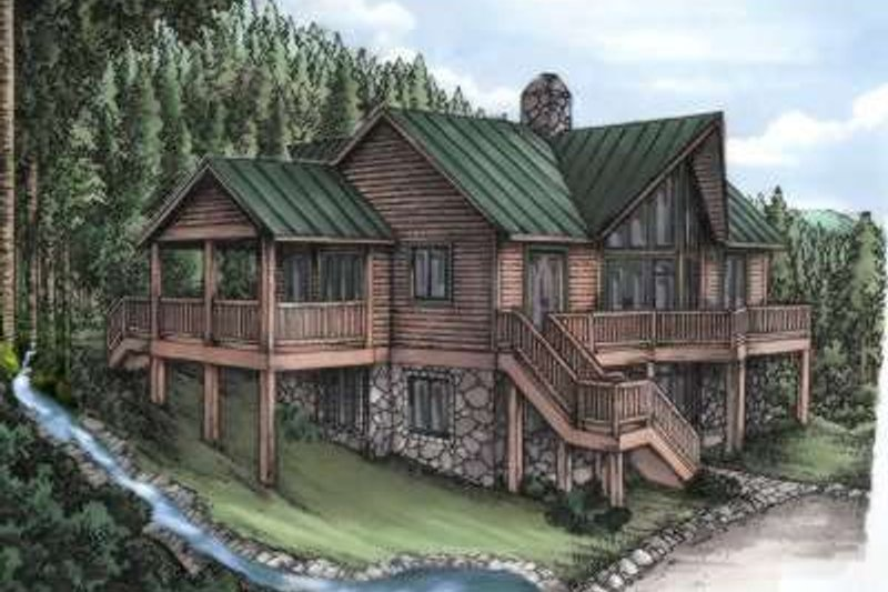 Contemporary Style House Plan - 4 Beds 4.5 Baths 3338 Sq/Ft Plan #115-154