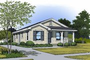 Traditional Style House Plan - 3 Beds 1 Baths 996 Sq/Ft Plan #417-103 Exterior - Front Elevation