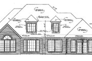 European Style House Plan - 4 Beds 3.5 Baths 3002 Sq/Ft Plan #310-901 Exterior - Rear Elevation