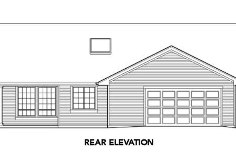 Craftsman Exterior - Rear Elevation Plan #48-291 - Houseplans.com