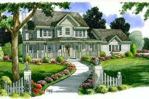 Country Exterior - Front Elevation Plan #312-473