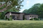 Contemporary Style House Plan - 3 Beds 2 Baths 2653 Sq/Ft Plan #17-3392 Exterior - Rear Elevation