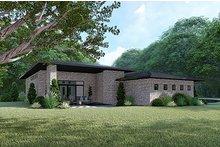 House Plan Design - Contemporary Exterior - Rear Elevation Plan #17-3392