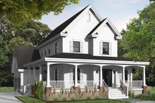 Victorian Exterior - Front Elevation Plan #23-2348